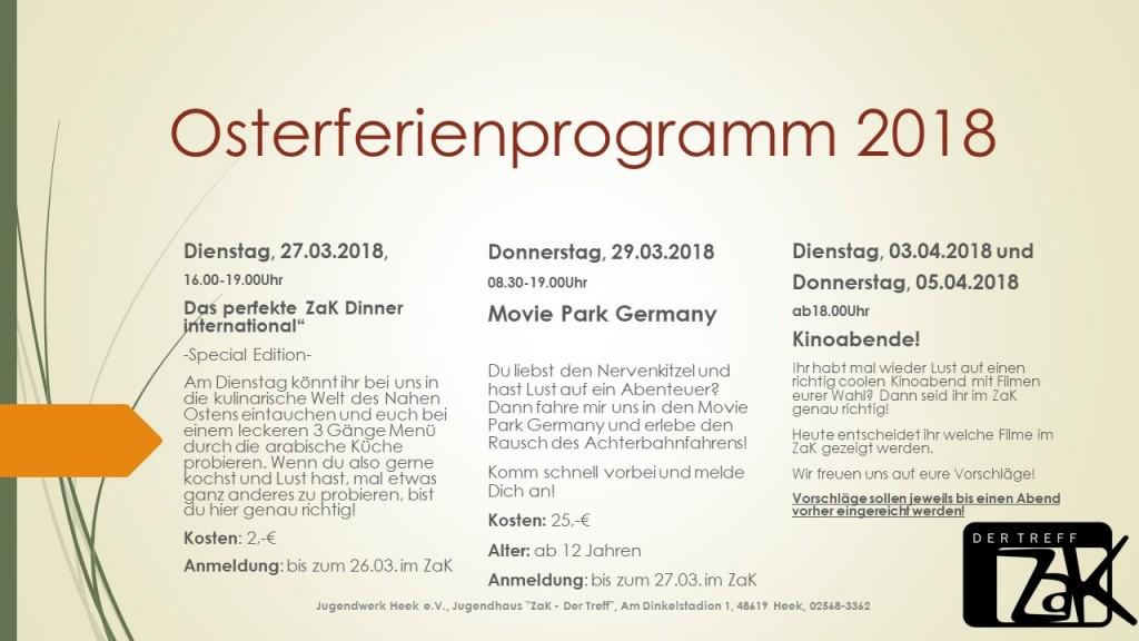 Osterferienprogramm 2018