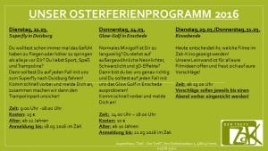 Unser Osterferienprogramm 2016